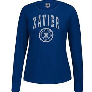 Xavier Musketeers Athletic Seal L/S Tee NWT M